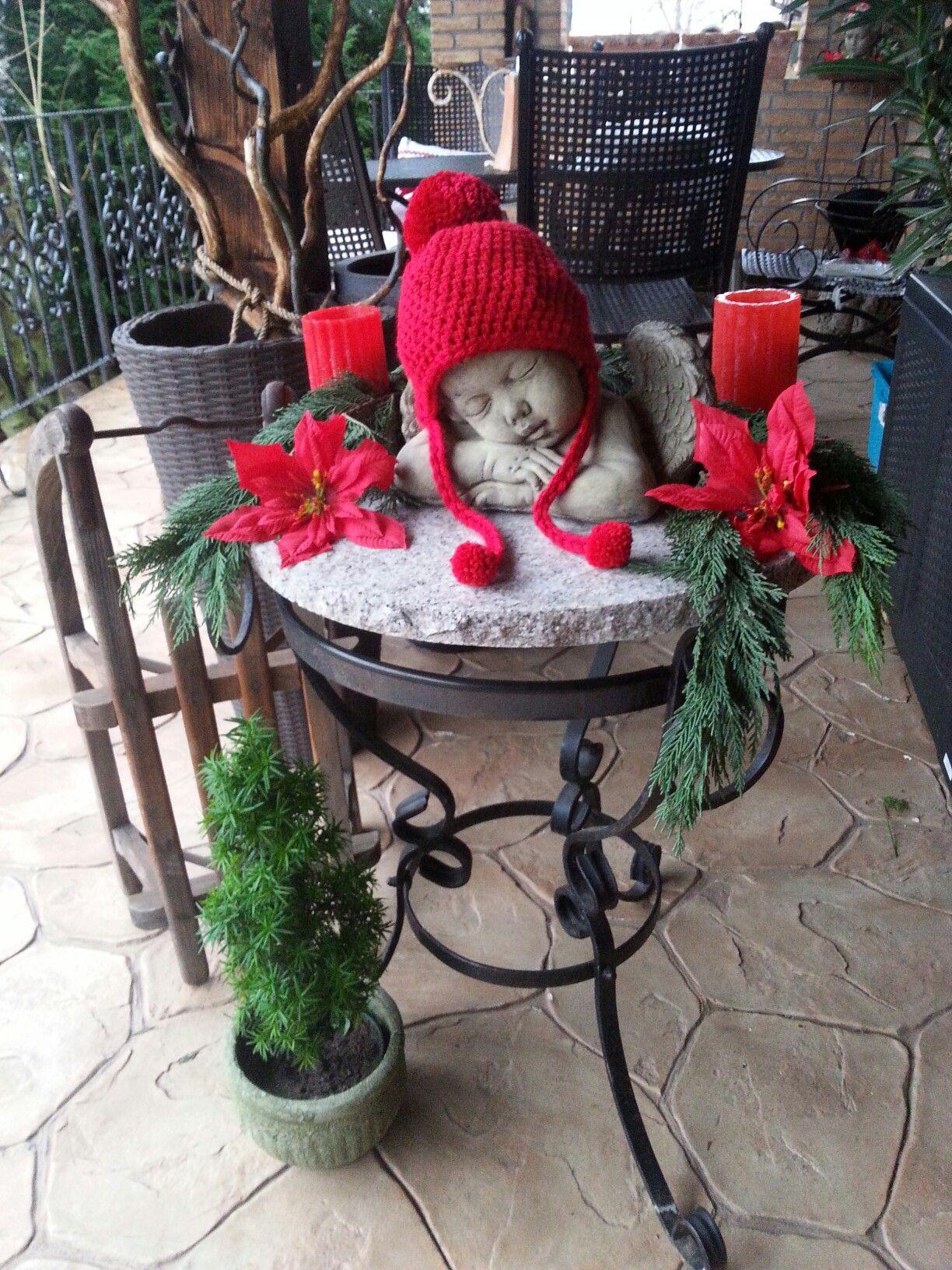 Weihnachtsdeko draußen #weihnachtsdekohauseingangaussen