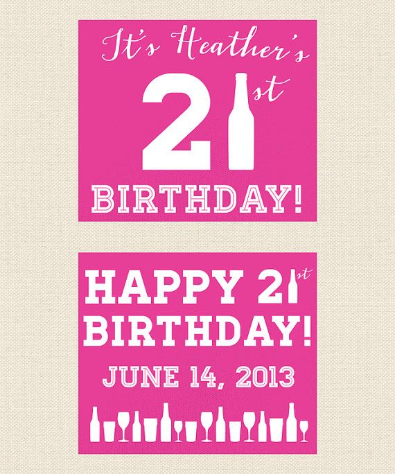 21st Birthday Party Koozie