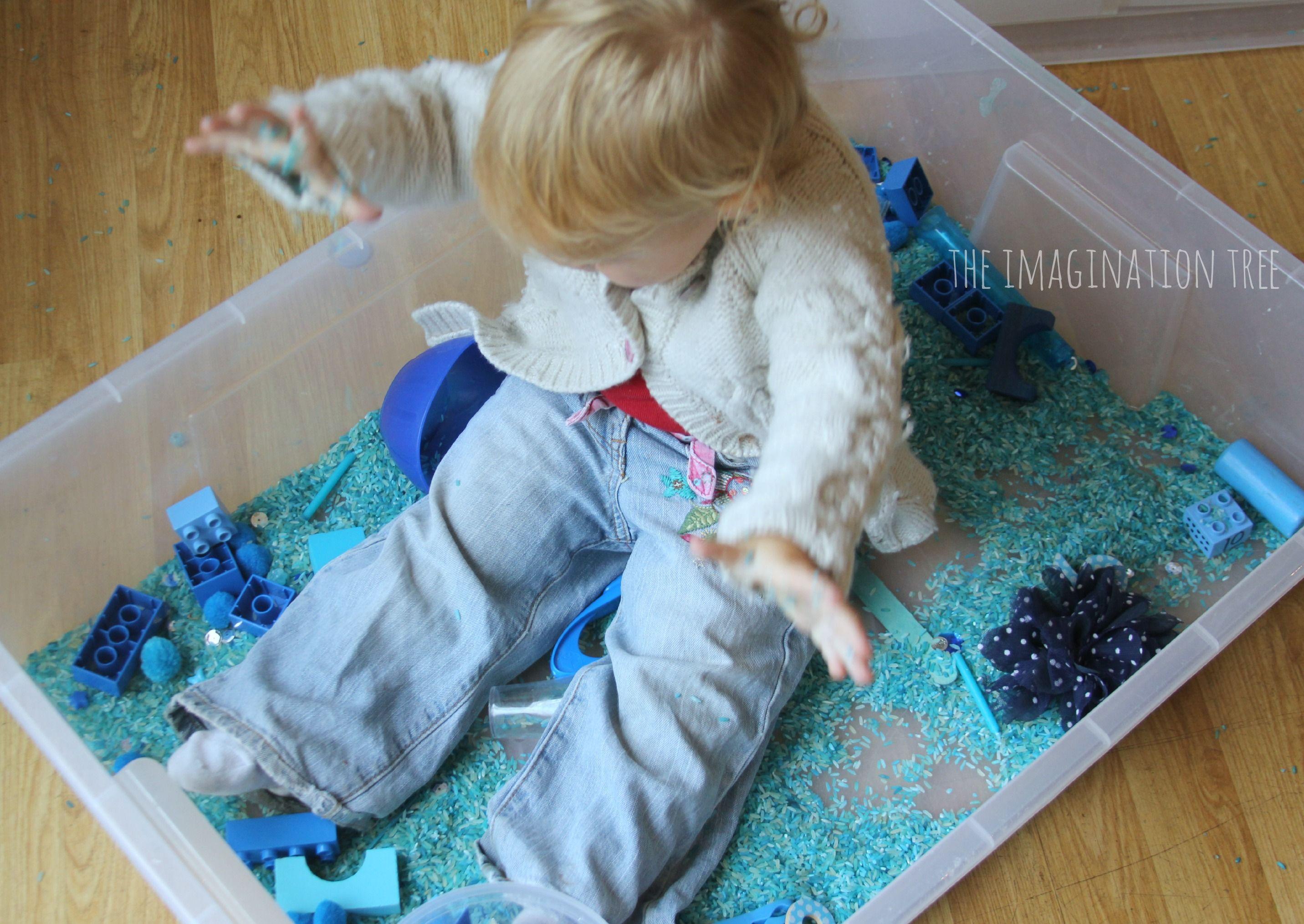 Giant Colour Themed Sensory Tub | Sensory tubs, Motor activities and ...