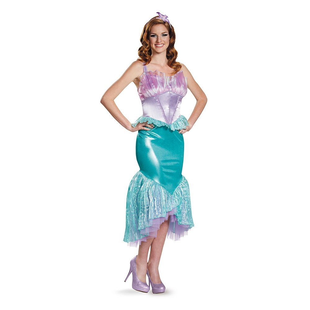 Disguise Women\'s Ariel Deluxe Adult Costume, Multi, Small | Costume ...