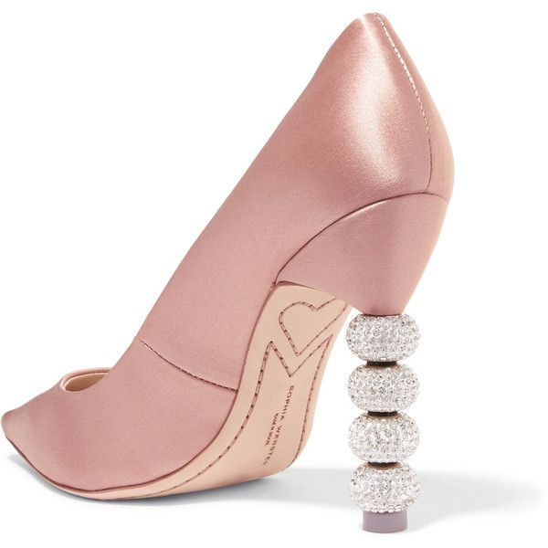 Cheap Price Outlet SOPHIA WEBSTER Coco Crystal-embellished Satin Pumps - Antique rose With Mastercard For Sale Release Dates Sale Online Buy Cheap Authentic 9dLQ8K
