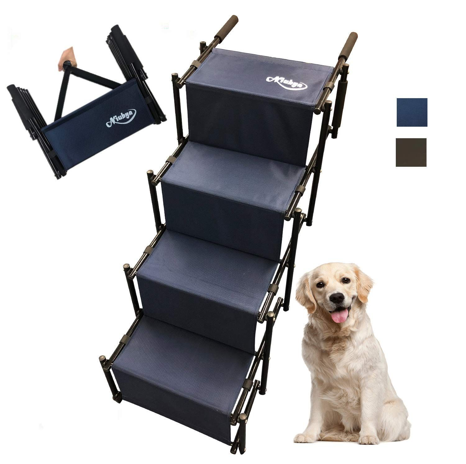 Niubya Folding Car Dog Steps Stairs Review Dog Steps Dog Stairs