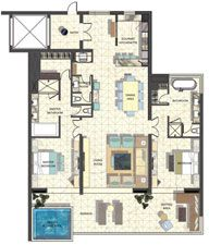 Floor Plan: Manta & Moray Two Bedroom A