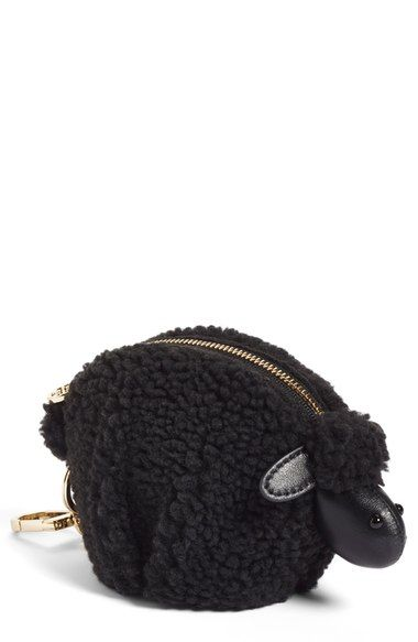 Tory Burch 'Steve the Sheep' Faux Shearling Coin Pouch Bag Charm