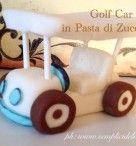 Golf Car in Pasta di Zucchero