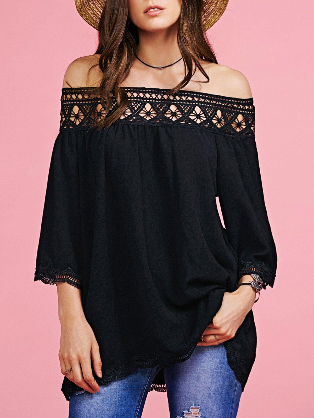 Stylish Off The Shoulder Cut Out Blouse For Women | Shoulder ...