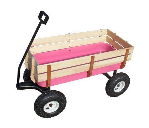 toy wagon wood garden wagon pink