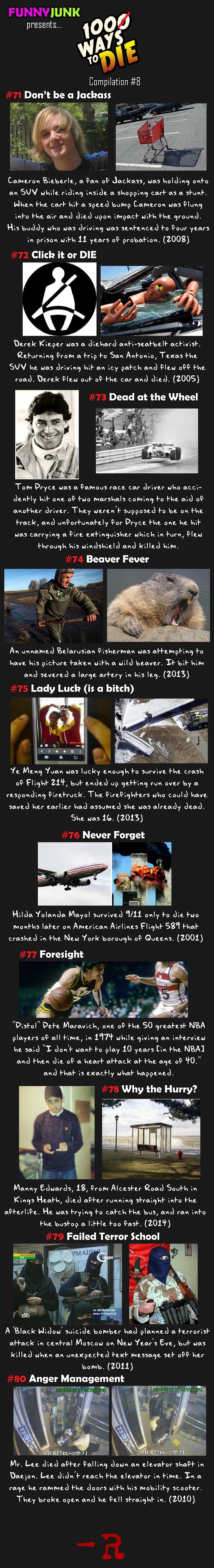 100 Ways To Die 8 Funny Pictures Funny Images Funny Quotes