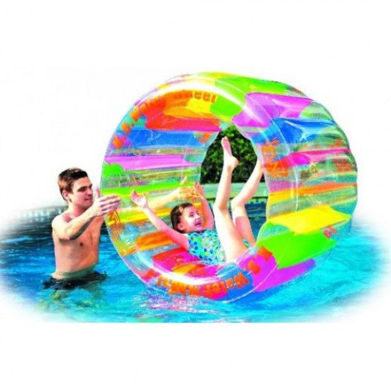 Roue de hamster gonflable pour piscine gonflable for Objet gonflable piscine