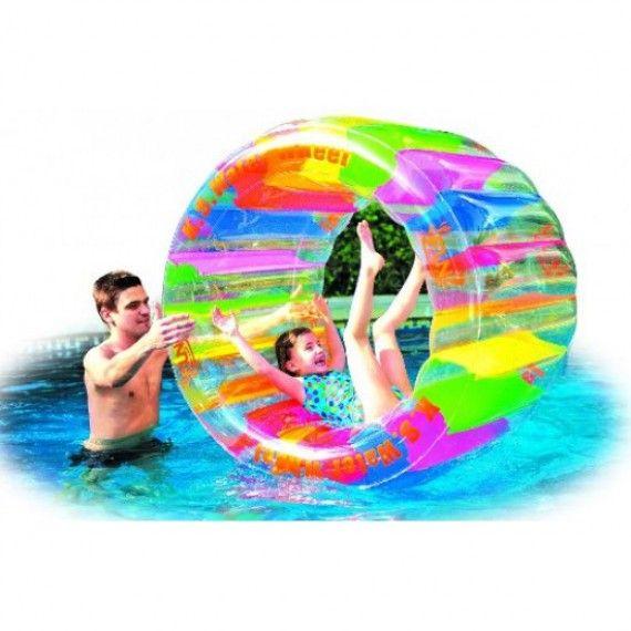 Roue de hamster gonflable pour piscine gonflable for Roue enrouleur bache piscine