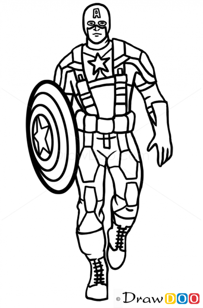 How To Draw Captain America Superheroes How To Draw Cap In 2019