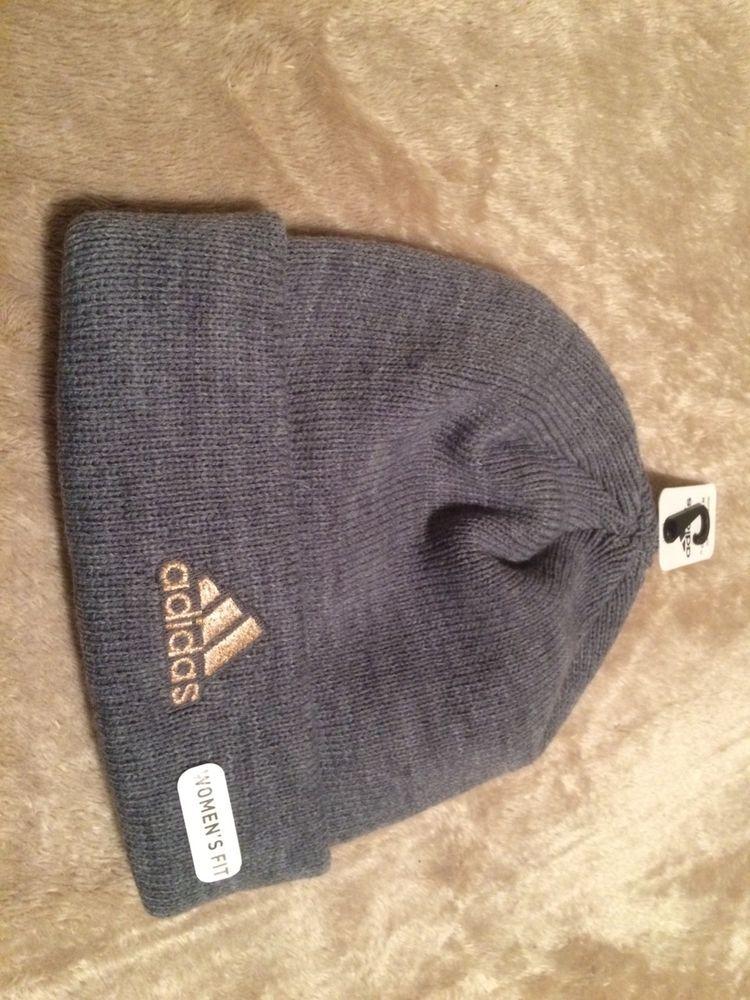 Adidas Pine Knot Beanie Hat Sz.Adult OSFA Grey NWT  fashion  clothing   642e2e9d929