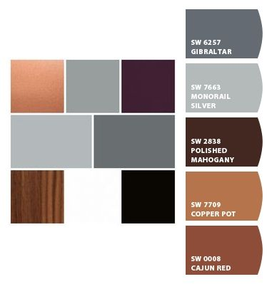 Copper Grey Wood Paint Colors From Colorsnap By Sherwin Williams