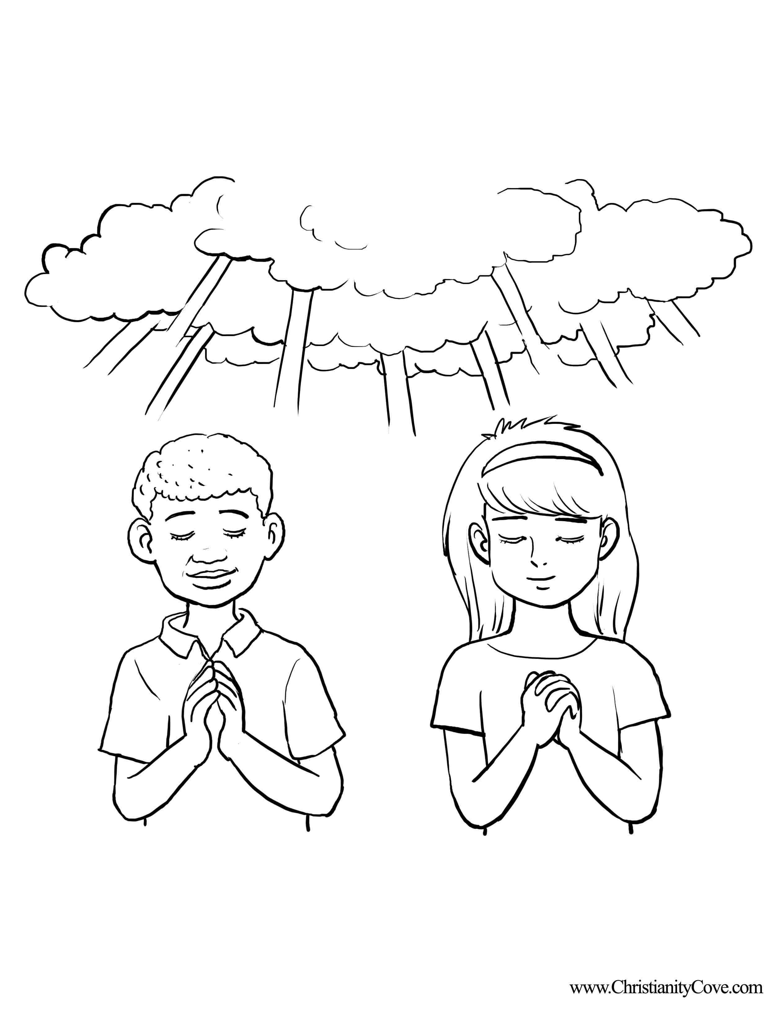 Prayer Coloring Pages Coloring Pages Printables Sunday School