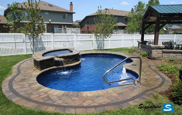 This Is The Perfect Size Pool For Us It Has Artistic Lines Great Shallow Step Area For The