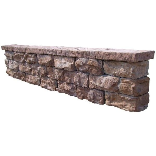 Fossill Stone Outdoor Decorative Seat Wall Wall Seating Concrete Decor Outdoor Stone
