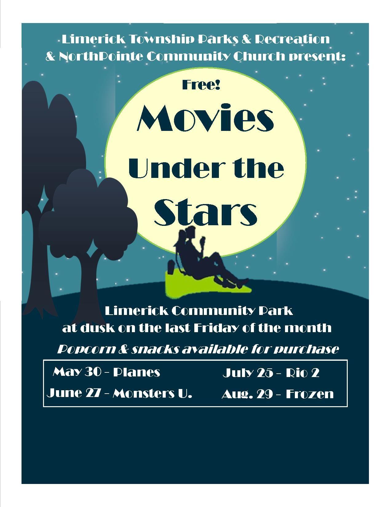 Manderach Park - Limerick. Movies under the stars - Summertime