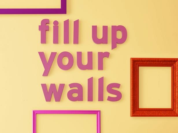 7 Ways to Fill Up Your Walls   Hgtv magazine, Blank space and Hgtv