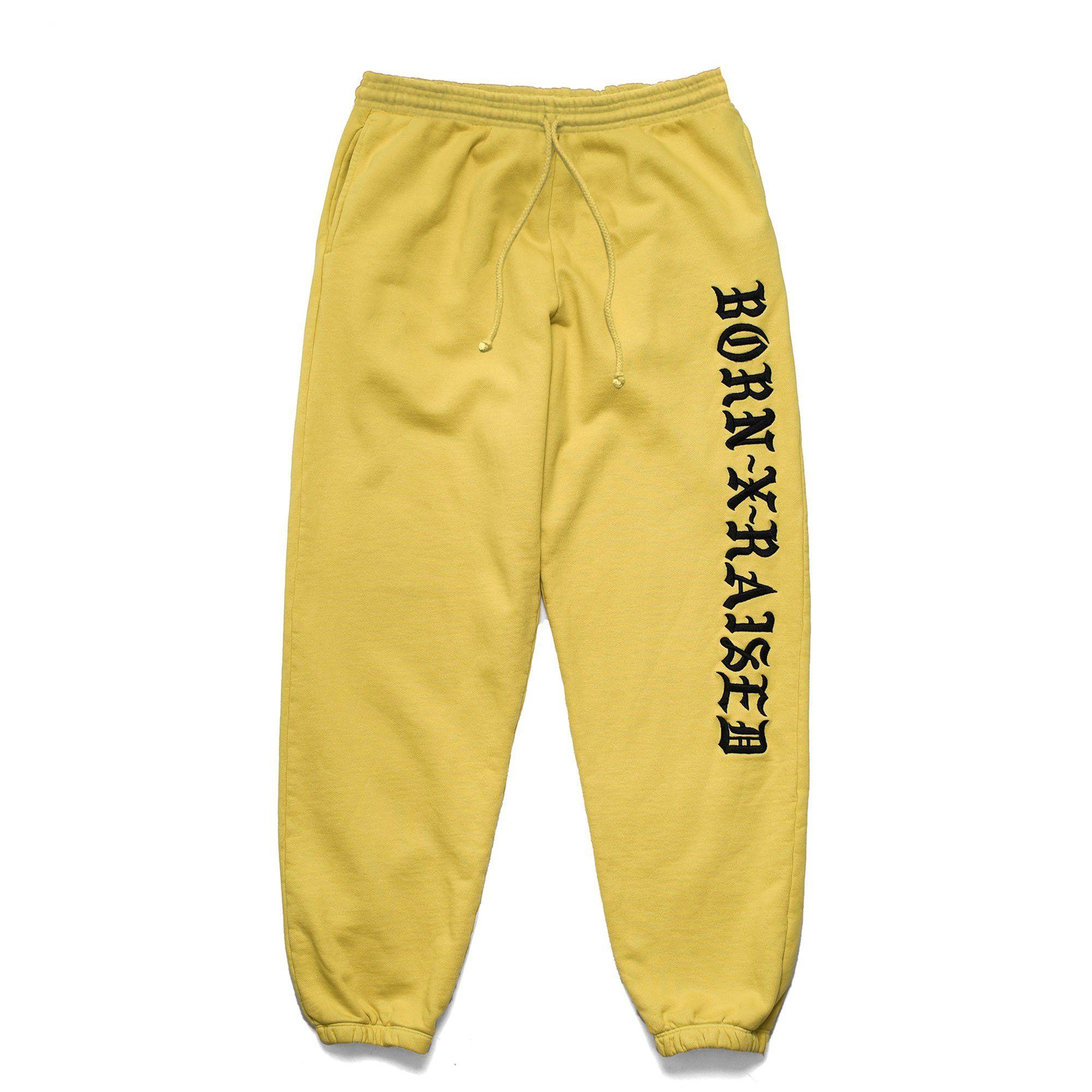 buy online 926e2 09cf3 BXR EMBROIDERED SWEATS MUSTARD YELLOW Mustard Yellow