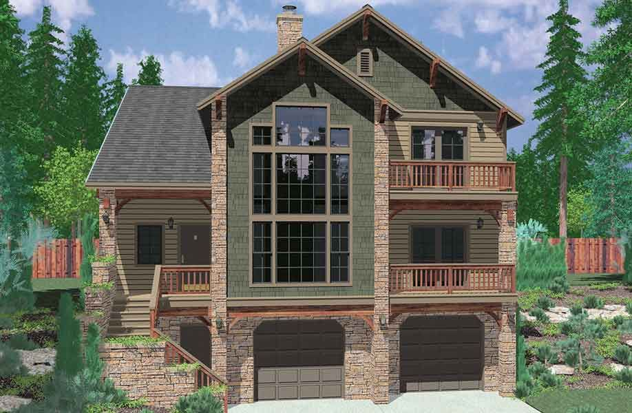 Plan Hillside Retreat Luxury Houses Basements And House
