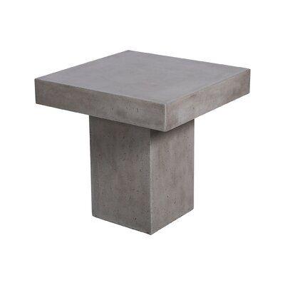 17 Stories Kurt Stone Concrete Side Table Outdoor Coffee Tables Outdoor Side Table Polished Concrete