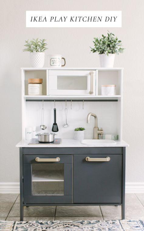 Ikea Play Kitchen DIY Makeover | Kinderküche, Spielküche und ...