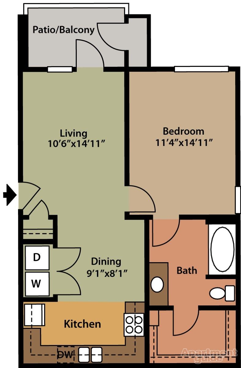 Platinum Southside Apartments Austin Tx 78745 Apartments For Rent 700 Sq Ft Tiny House Floor Plans Small House Floor Plans One Bedroom House