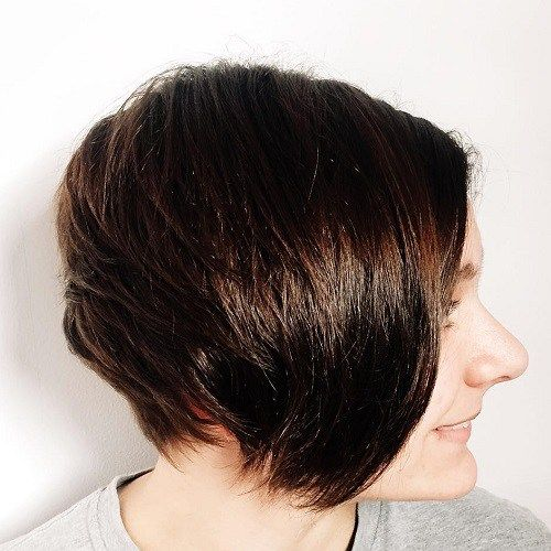 Short+Layered+Brunette+Hairstyle