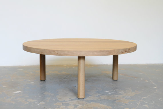 White Oak Coffee Table Free Shipping Round Dylan Design Co