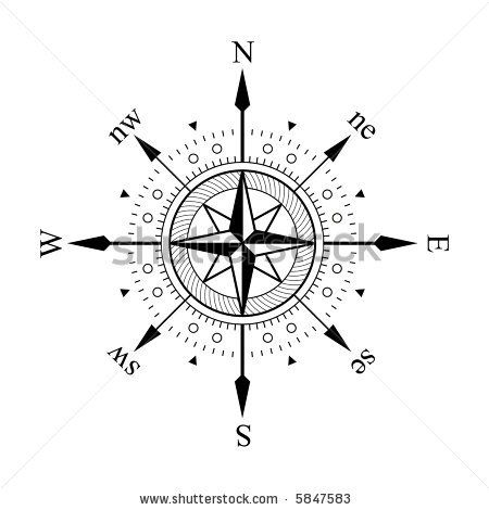 Compass Panel On White Background By In Finity Via Shutterstock Compass Icon Compass Compass Tattoo