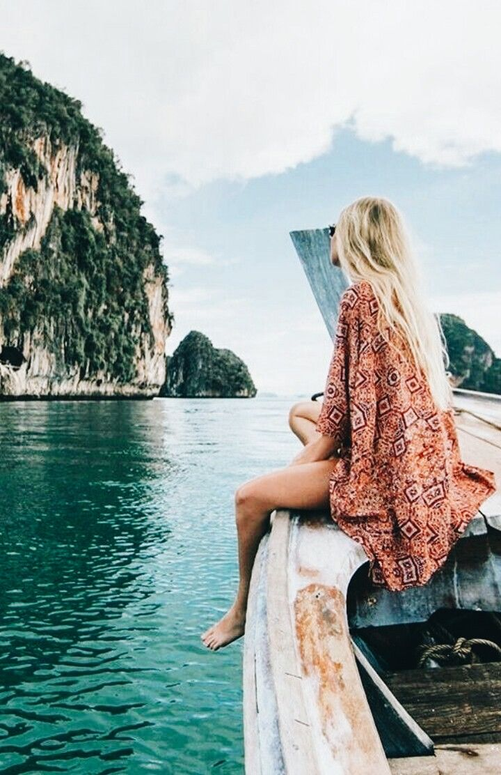 Sitting on the front of a boat in Thailand. | Travel Photography ...