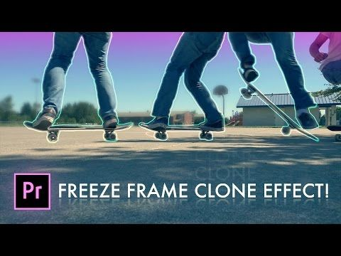 How to FREEZE FRAME CLONE TRAIL Effect in Adobe Premiere Pro