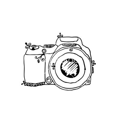 Sketch of a retro photo camera drawn by hand vector by vip2807 on VectorStock®