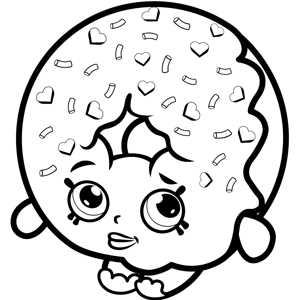 Shopkins Coloring Pages D'lish Donut