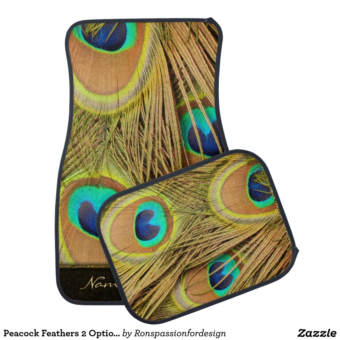 Peacock Feathers 2 Options Car Mat Peacock Feathers