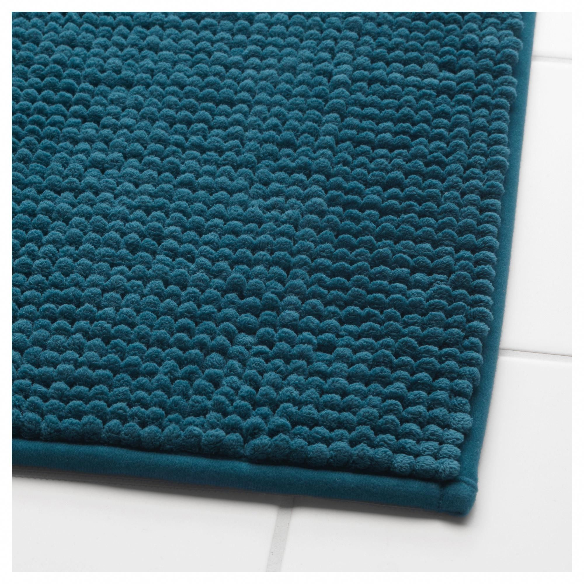 Ikea Toftbo Bath Mat Green Blue In 2019 Teal Bathroom Bathroom