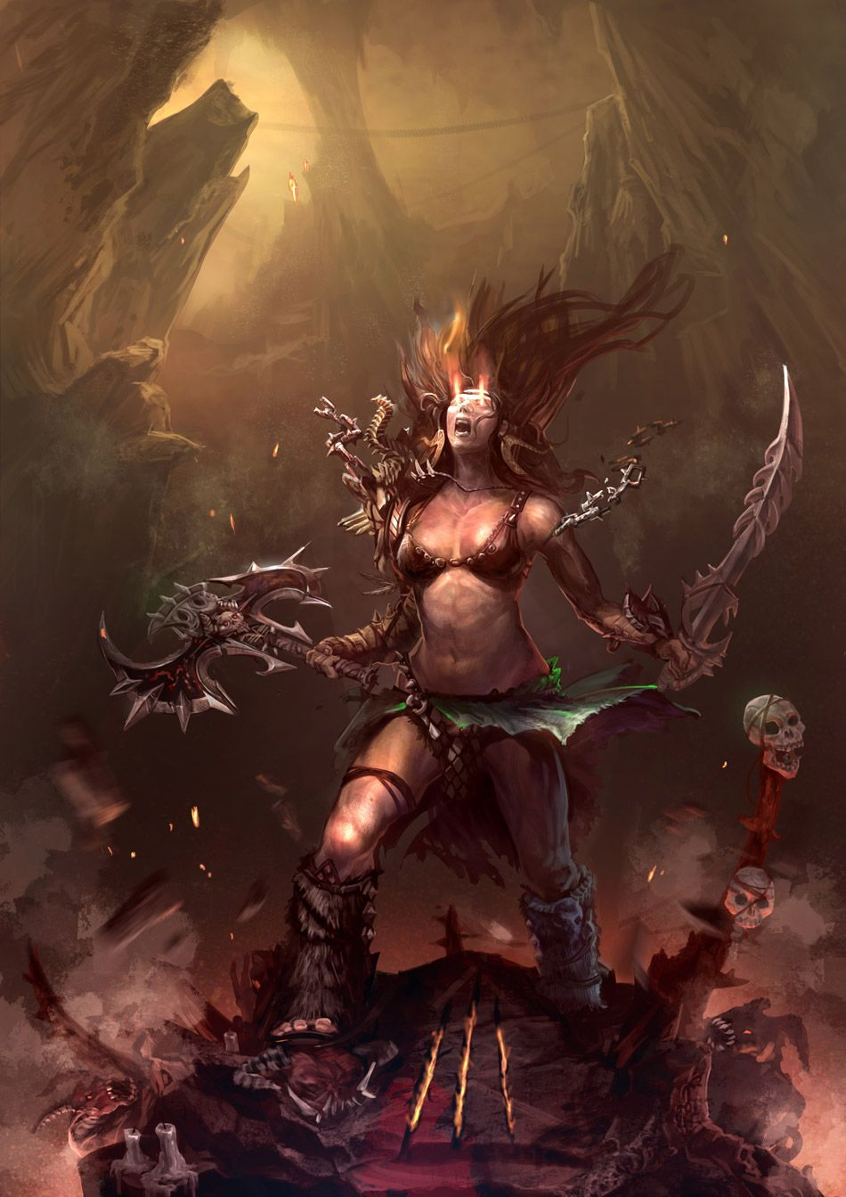 Pin by Алис Яйолу on Diablo III Fantasy female warrior