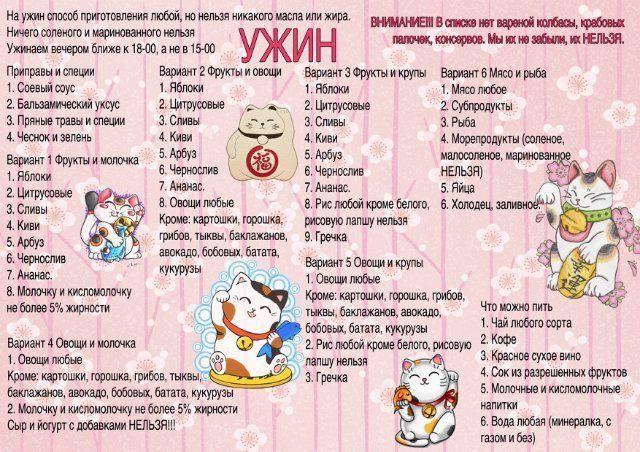 Диета Минус Шестьдесят Ужин. Минус 60 (система похудения): меню на неделю, мотивация, принципы, рецепты, секреты, отзывы