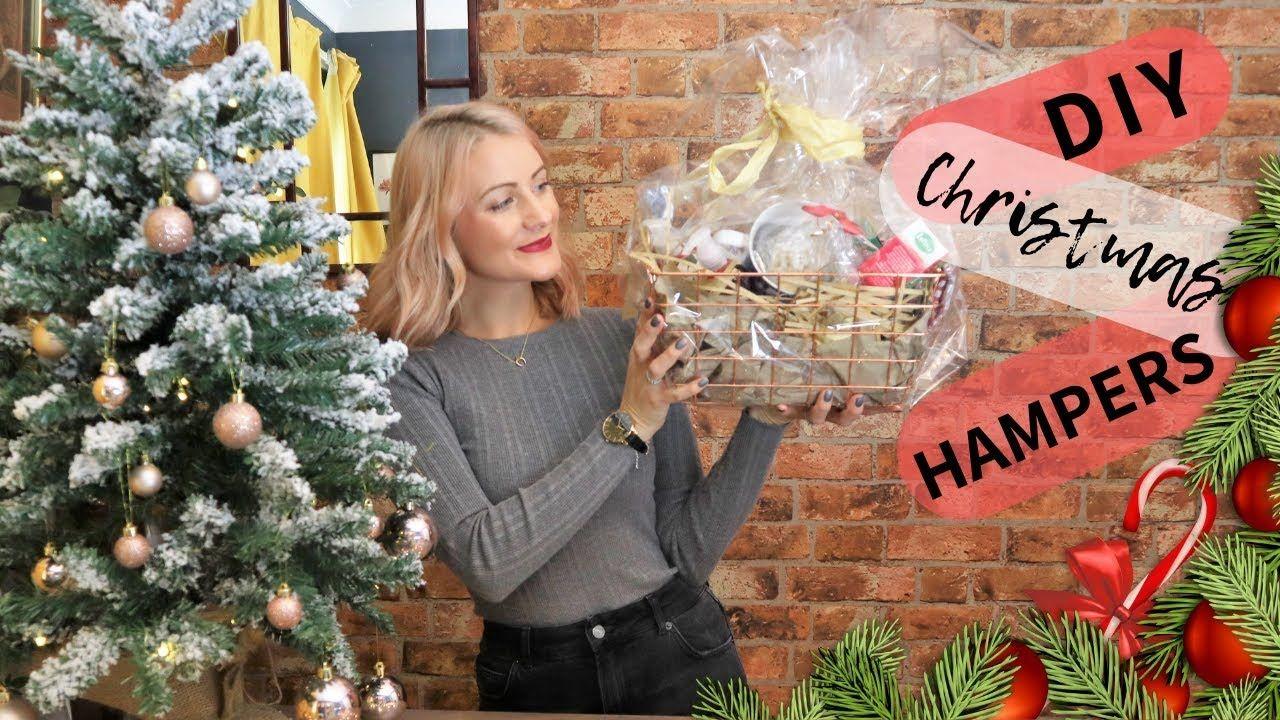 3 Diy Christmas Hamper Ideas Home Bargains Holiday Gift Baskets Dollar Tree Youtube Diy Christmas Hampers Holiday Gift Baskets Christmas Diy