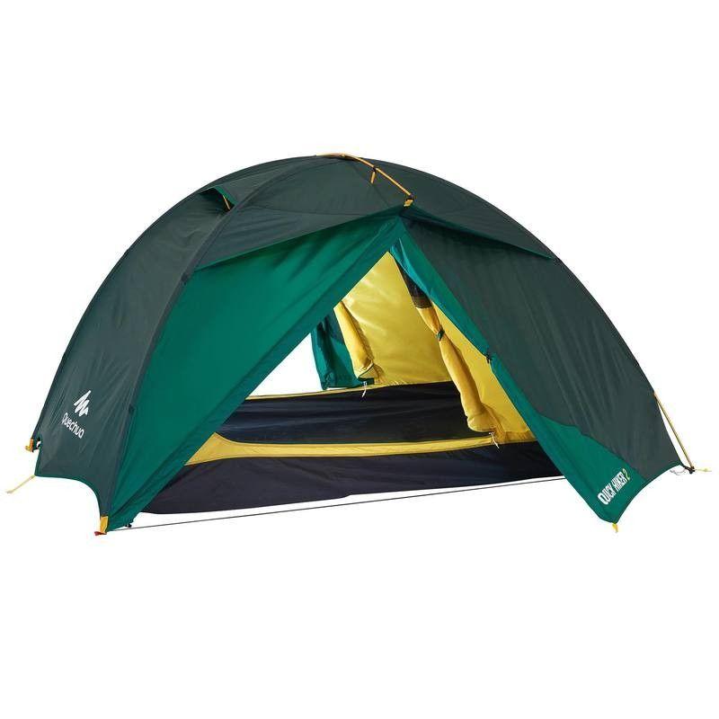 Trekking And Camping Kamperen Tent Quickhiker 2 Personen Quechua Tenten Viajes Verde