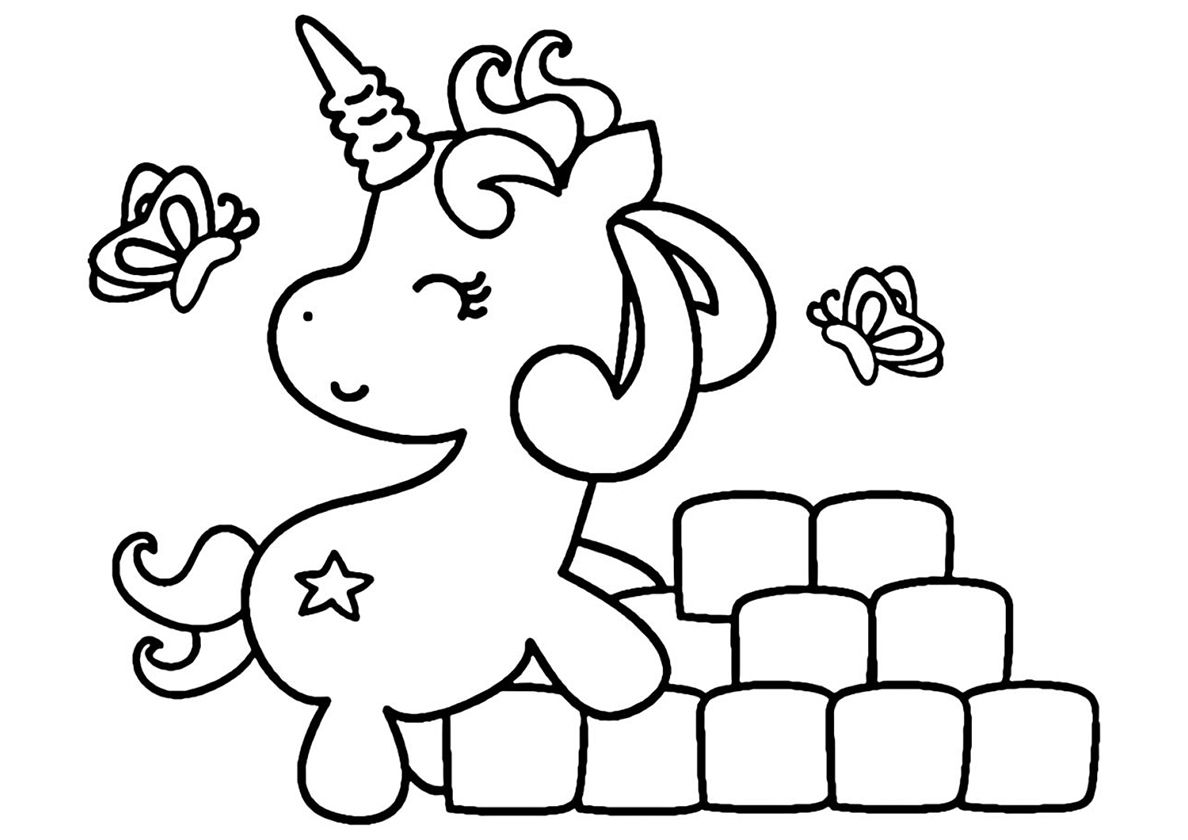 Funny Builder High Quality Free Coloring From The Category Unicorn More Printable Pictures On Our Websit Unicorn Coloring Pages Coloring Pages Baby Unicorn