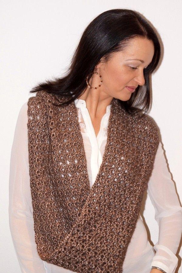 Häkle Dir jetzt einen eleganten Schal / Loop / Schlauchschal passend zur Abendgarderobe oder auch für tagsüber. Probiers gleich auch mit der Anleitung.