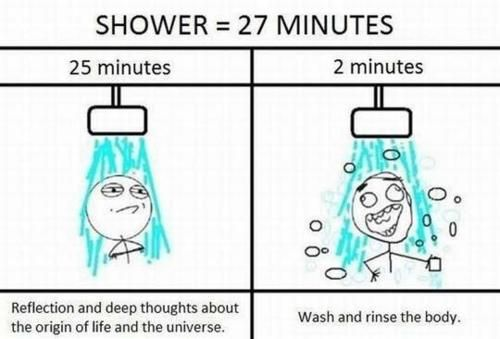 Image result for meme thing in shower