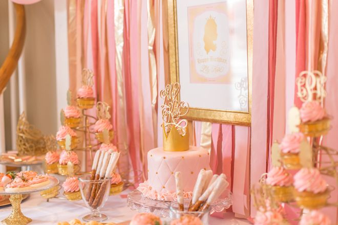 Pink And Gold Princess 3rd Birthday Party Description From Pizzazzerie I Searched