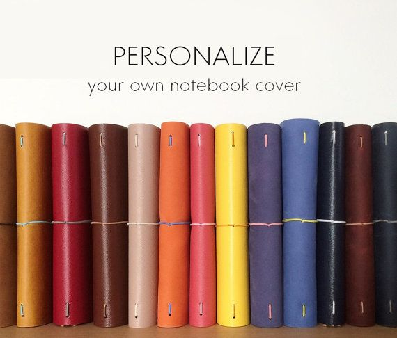 ♥ Personalize your own notebook cover with our beautiful Saffiano leather ♥  View our latest Vanilla White cover here:
