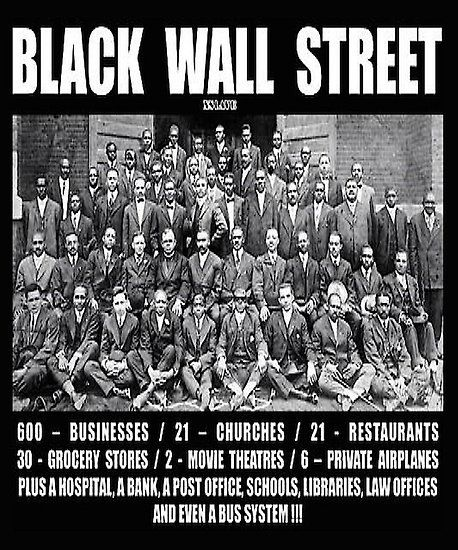 black wall street poster in 2020 with images black on black wall street id=53440