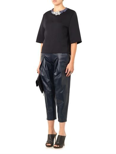 3.1 Phillip Lim Embellished techno-jersey top