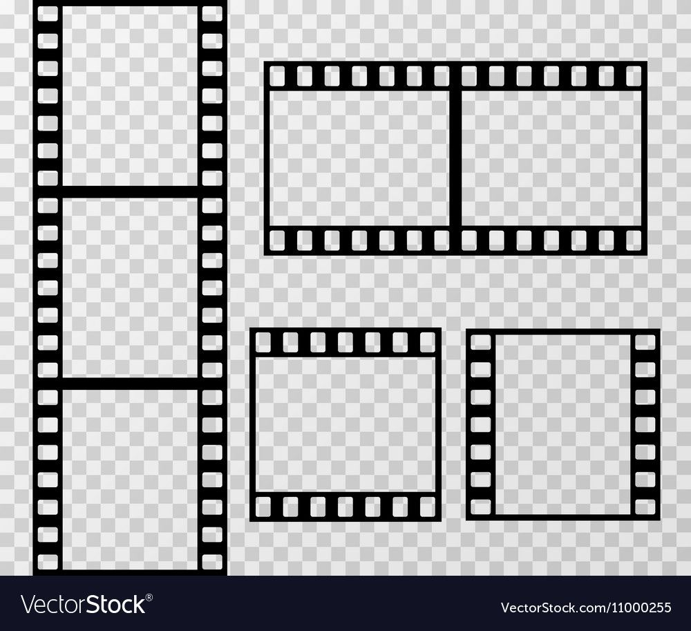 Film Strip Photo Frame Template Isolated On Vector Image On Vectorstock Frame Template Film Strip Photo Frame