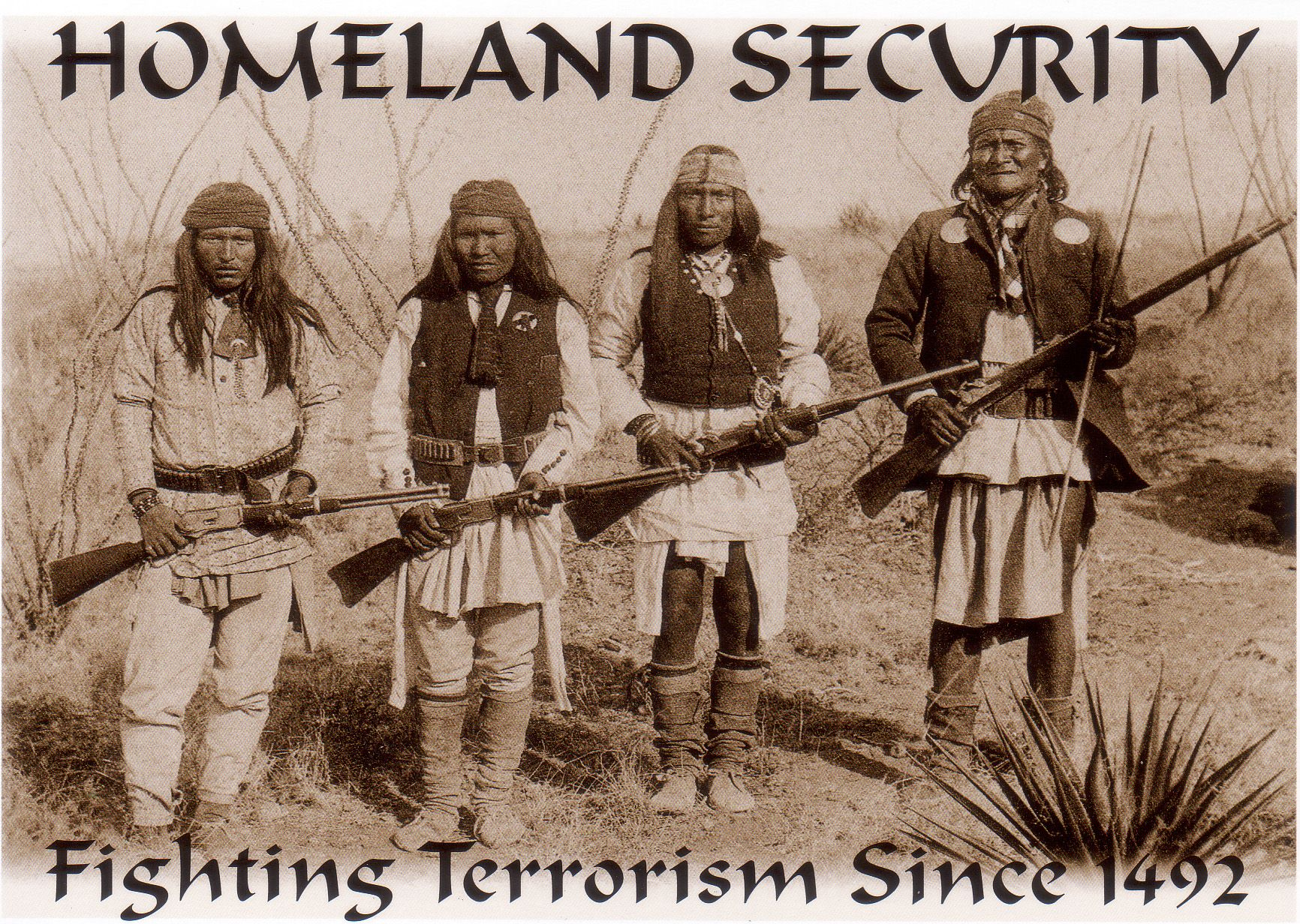 Apache Indian Symbols Geronimo Second From Right In Front And