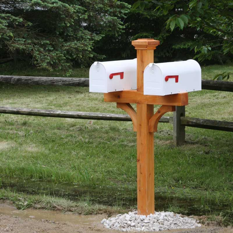 Pin By Amy Leatherwood On Mailbox In 2020 Double Mailbox Post Mailbox Design Post Design